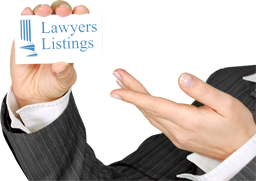 Finding business cards lawyer's listing.
